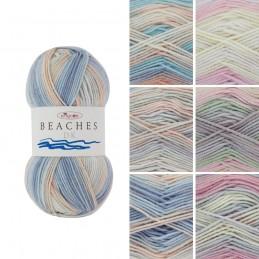 King Cole Beaches DK Double Knit Wool Yarn Knitting Crochet 100g