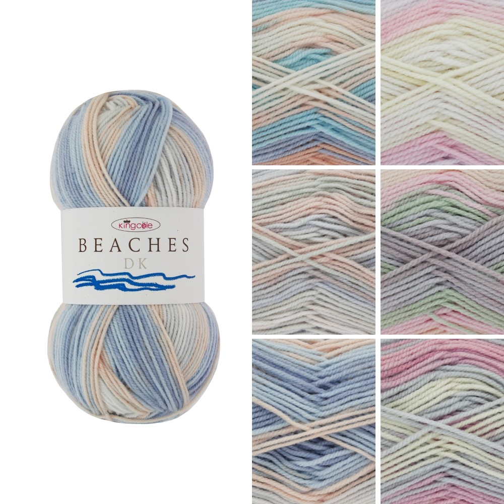 King Cole Beaches DK Double Knit 100g Beach Melba