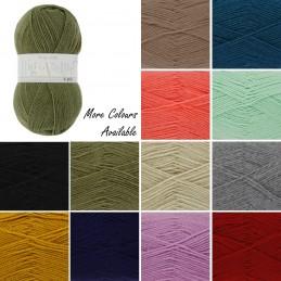 King Cole Big Value 4 Ply Wool Yarn Knitting 100% Premium Acrylic 100g