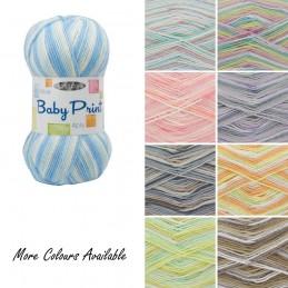 King Cole Big Value 4 Ply Print Wool Yarn Knitting 100% Premium Acrylic 100g
