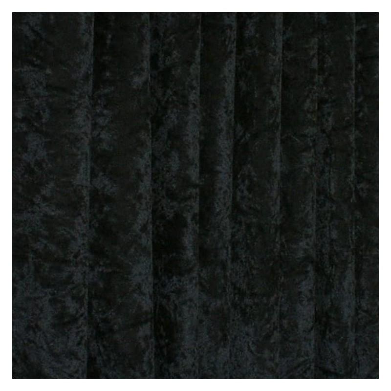 Bling Upholstery Crushed Velour Velvet Fabric Curtain Furnishing 145cm Wide Black