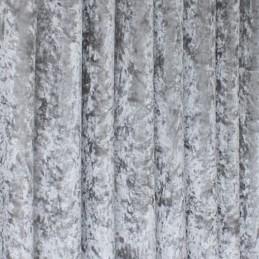 Bling Upholstery Crushed Velour Velvet Fabric Curtain Furnishing 145cm Wide Ice