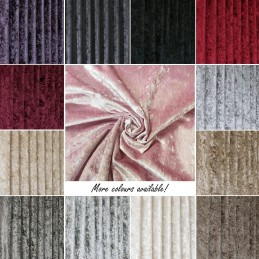 """""""Bling"""" Upholstery Crushed Velour Velvet Fabric Curtain Furnishing 145cm Wide"""