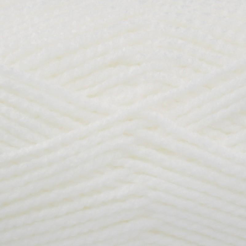 King Cole Big Value Baby Chunky Wool Yarn 100% Premium Acrylic Weight 100g White