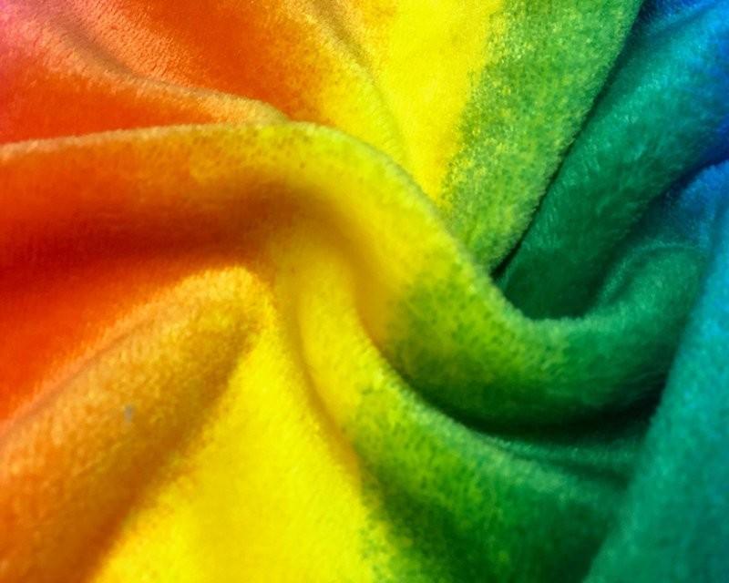 Rainbow Super Soft Cuddle Fleece Pet Blanket Pride LGBT 147cm Wide