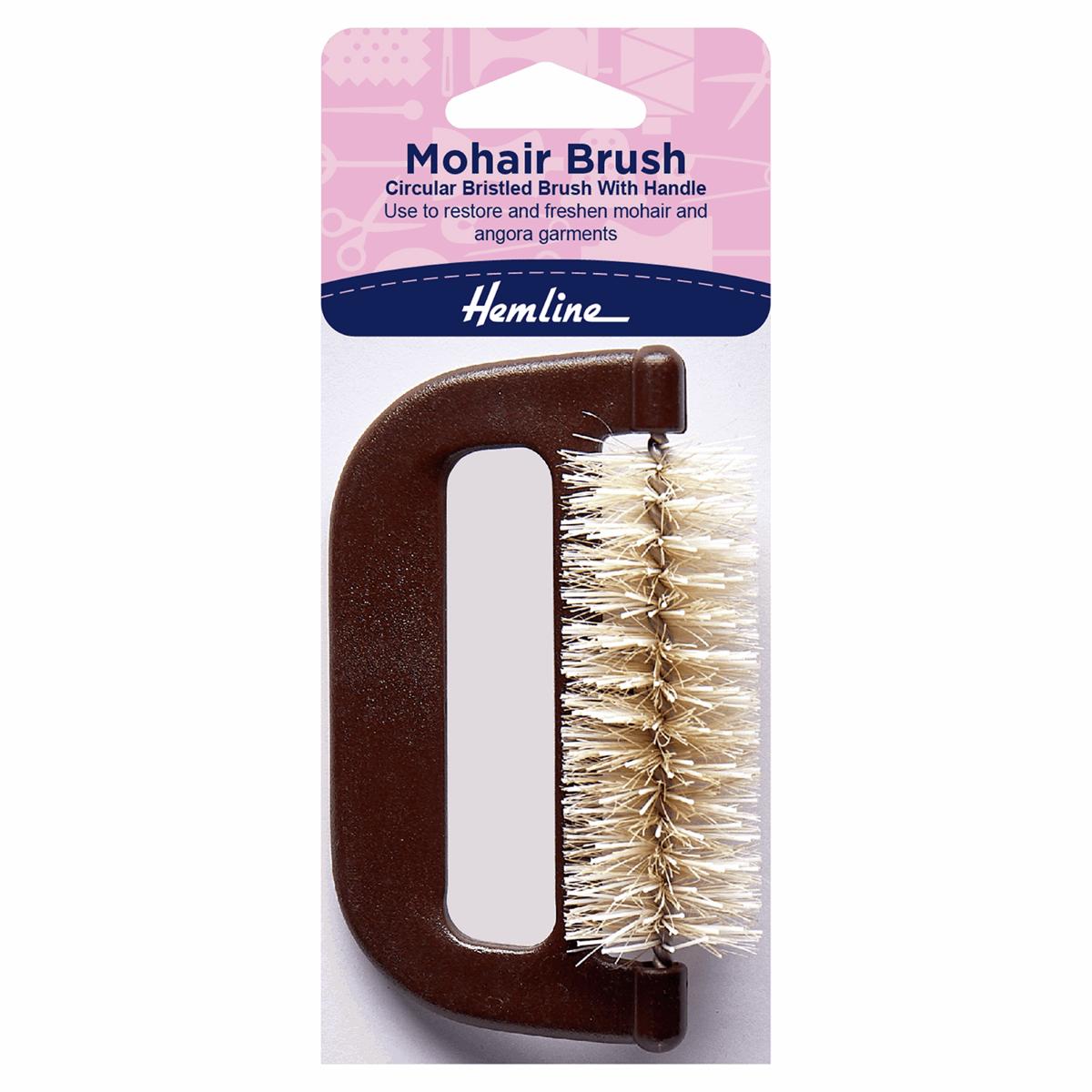 Hemline Mohair Hard Bristle Brush Restore & Freshen Angora