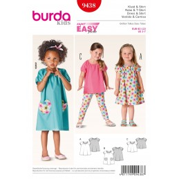 Burda Style Childrens Toddler Skirt Dress And Trousers Sewing Pattern 9438