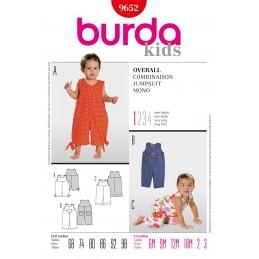 Burda Style Babies Toddlers Summer Jumpsuit Sewing Pattern 9652