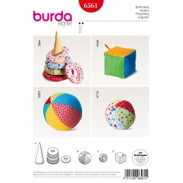 Burda Style Baby Soft Play Toys Sewing Pattern 6561