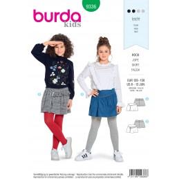 Burda Style Child's Hip Yoke and Gathered Skirt Sewing Pattern 9336