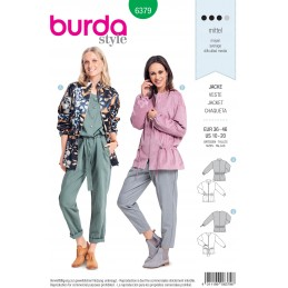 Burda Style Misses' Blousons With Drawstring Waist Sewing Pattern 6379