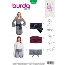 Burda Style Misses' Fashionable Belt Variations Sewing Pattern 6396