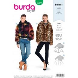 Burda Style Misses' Wide Cut Fur Coat Sewing Pattern 6359