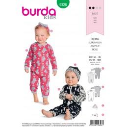 Burda Baby's Slip On Bottoms Trousers Shorts Sewing Pattern 9317