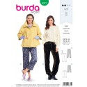Burda Style Misses' Loose Fitting Slip On Trousers Sewing Pattern 6371