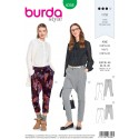 Burda Style Misses' Loose Fitting Low Crotch Trendy Trousers Sewing Pattern 6358