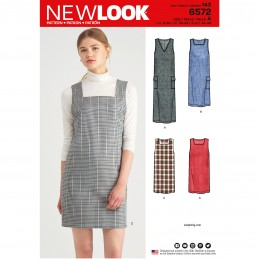New Look Sewing Pattern 6572 Women's Jumper Pinafore Dress