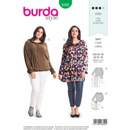 Burda Style Womans' Blouse with Intricate Detailing's Sewing Pattern 6392