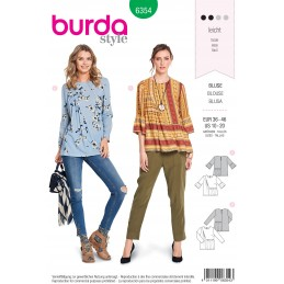 Burda Style Misses' Designer Blouse with Swingy Styling Sewing Pattern 6354
