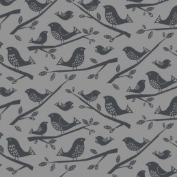 Col. 101 Birds 100% Cotton Patchwork Fabric Nutex Leafy Meadow Floral Flowers Birds