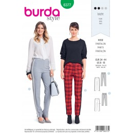 Burda Sewing Pattern 6377 Style Misses' Smart and Trendy Fitted Trousers