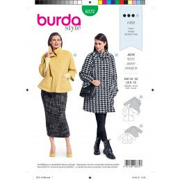 Burda Style Misses' Designer Loose Fitting Coat With Two Lengths Sewing Pattern 6372