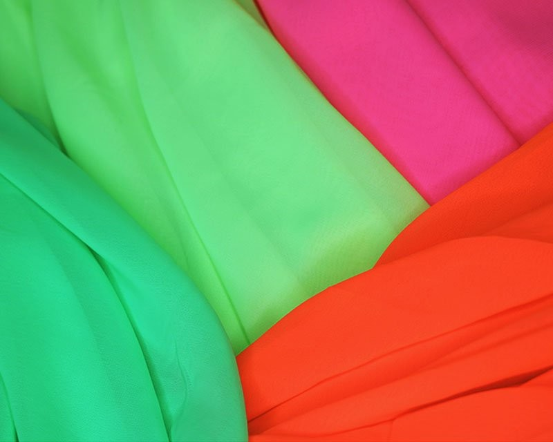 Flo Yellow Bright Neon Chiffon Fluorescent Dress Bridal Fabric 145cm Wide