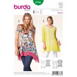Burda Style Womans' Feminine Collared Blouse Sewing Pattern 6786