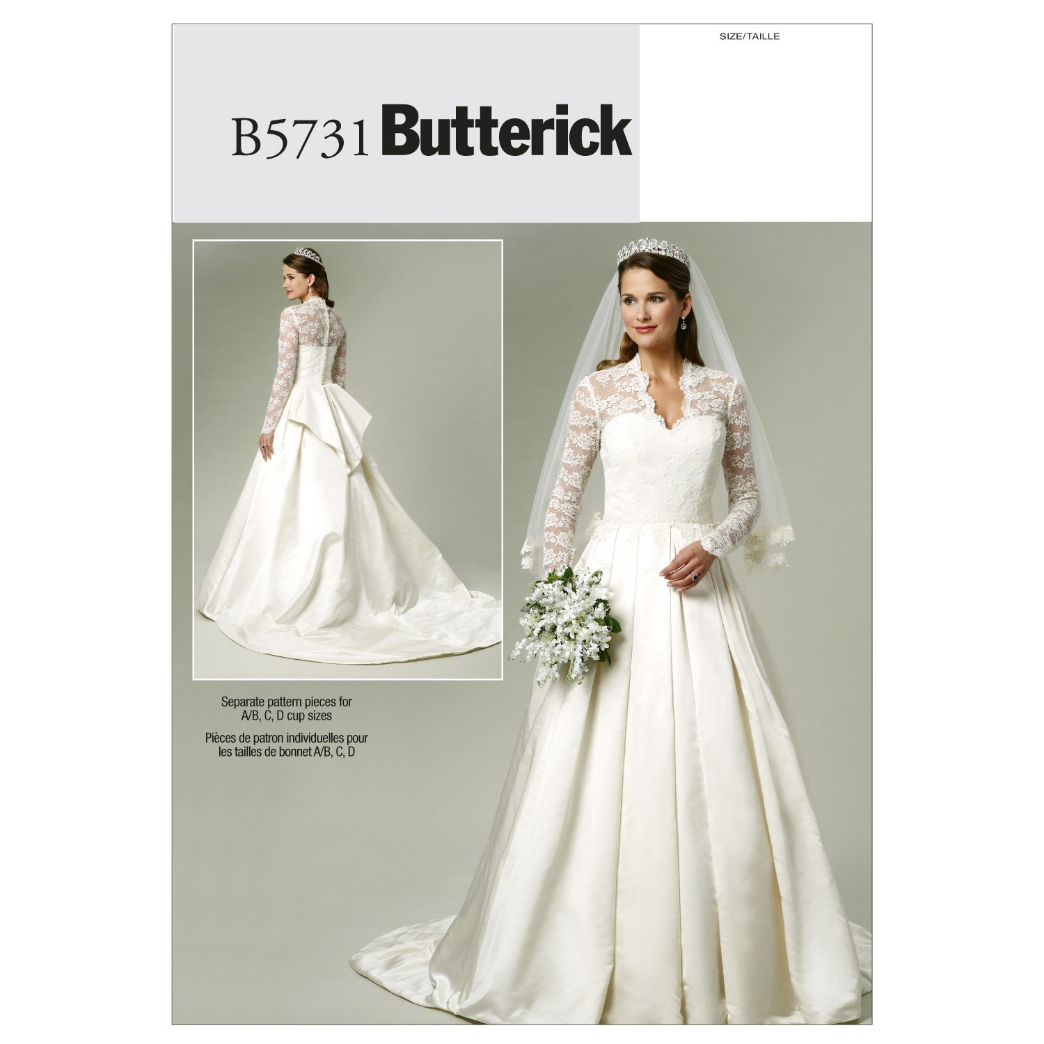 Butterick Sewing Pattern 5731 Misses Wedding Dress Special Occasional EE 14-20