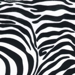 100% Cotton Poplin Fabric Rose & Hubble Zebra Animal Skin Print Safari