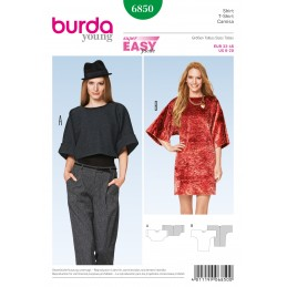 Burda Style Misses' Loose Fitting Dress and Shirt Sewing Pattern 6850