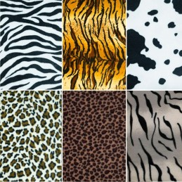 Polar Fleece Anti Pil Fabric Animal Skin Print Zebra Cow Leopard Tiger Blanket
