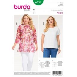 Burda Style Womans' Feminine Flowing Light Weight Blouse Sewing Pattern 6552