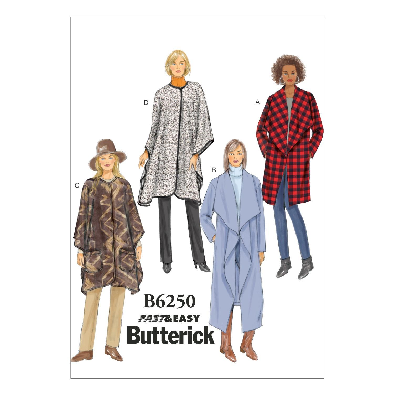 Butterick Sewing Pattern 6250 Jacket Coat & Wrap