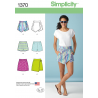 Misses' Short Shorts, Skort and Mini Skirt Simplicity Sewing Pattern 1370