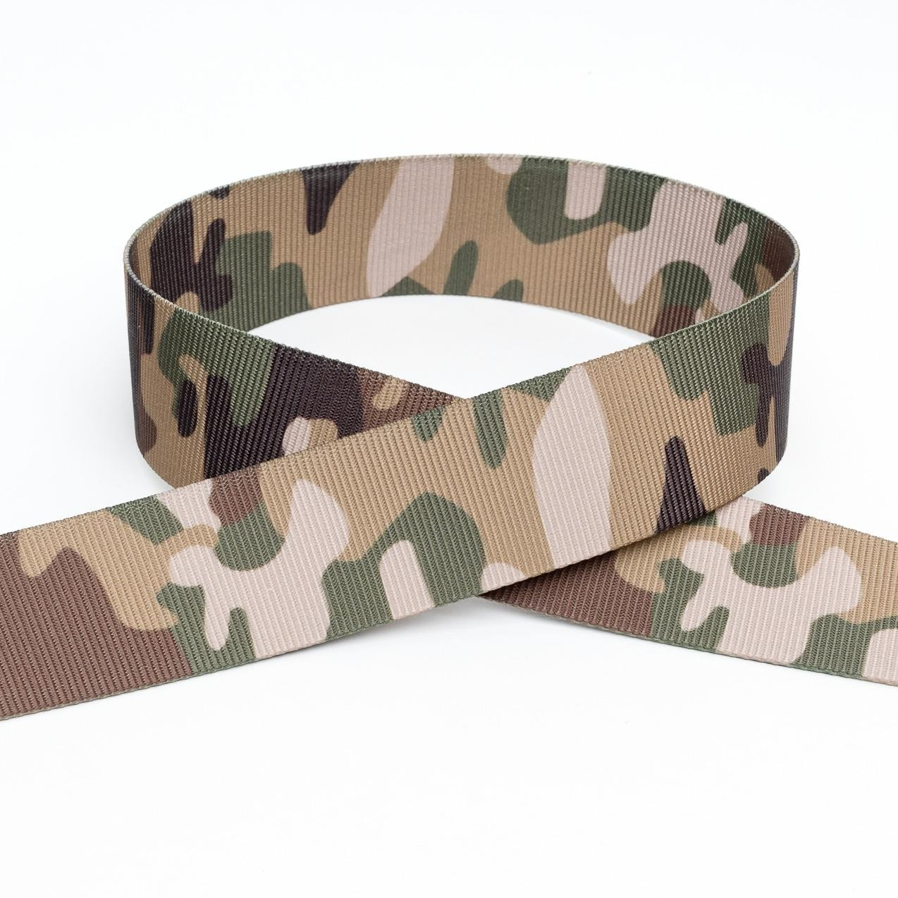 Army Camouflage Webbing Polyproplene Strapping 25mm, 38mm or 50mm Wide