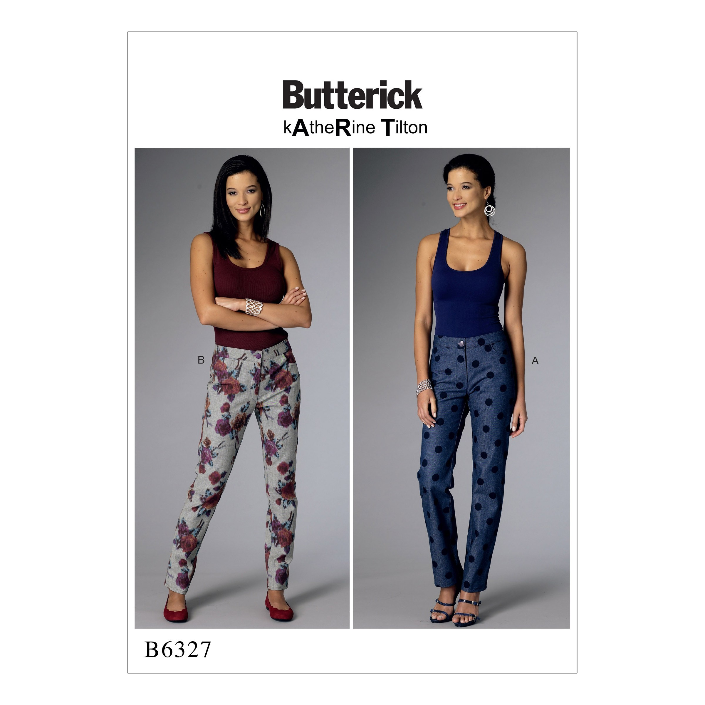 Butterick Sewing Pattern 6327 Misses' Tapered Semi Fitted Trousers F5 (16-24)