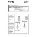 Burda Style Infant Simple Toddler's Elastic Waistband Trousers Sewing Pattern 9359