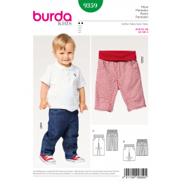 Burda Sewing Pattern 9359 Style Infant Simple Toddler's Waistband Trousers