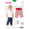 Burda Style Infant Simple Toddler's Waistband Trousers Sewing Pattern 9359