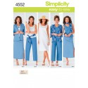 Simplicity Sewing Pattern 4552 Misses' & Plus Size Mix & Match Separates BB