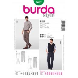 Burda Sewing Pattern 7022 Men's Smart Business Trousers Office Wear