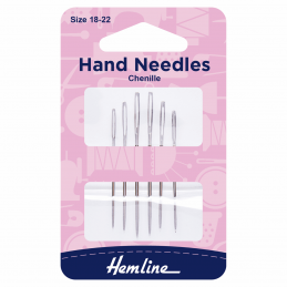 Hemline Chenille Hand Sewing Needles Size 18-22