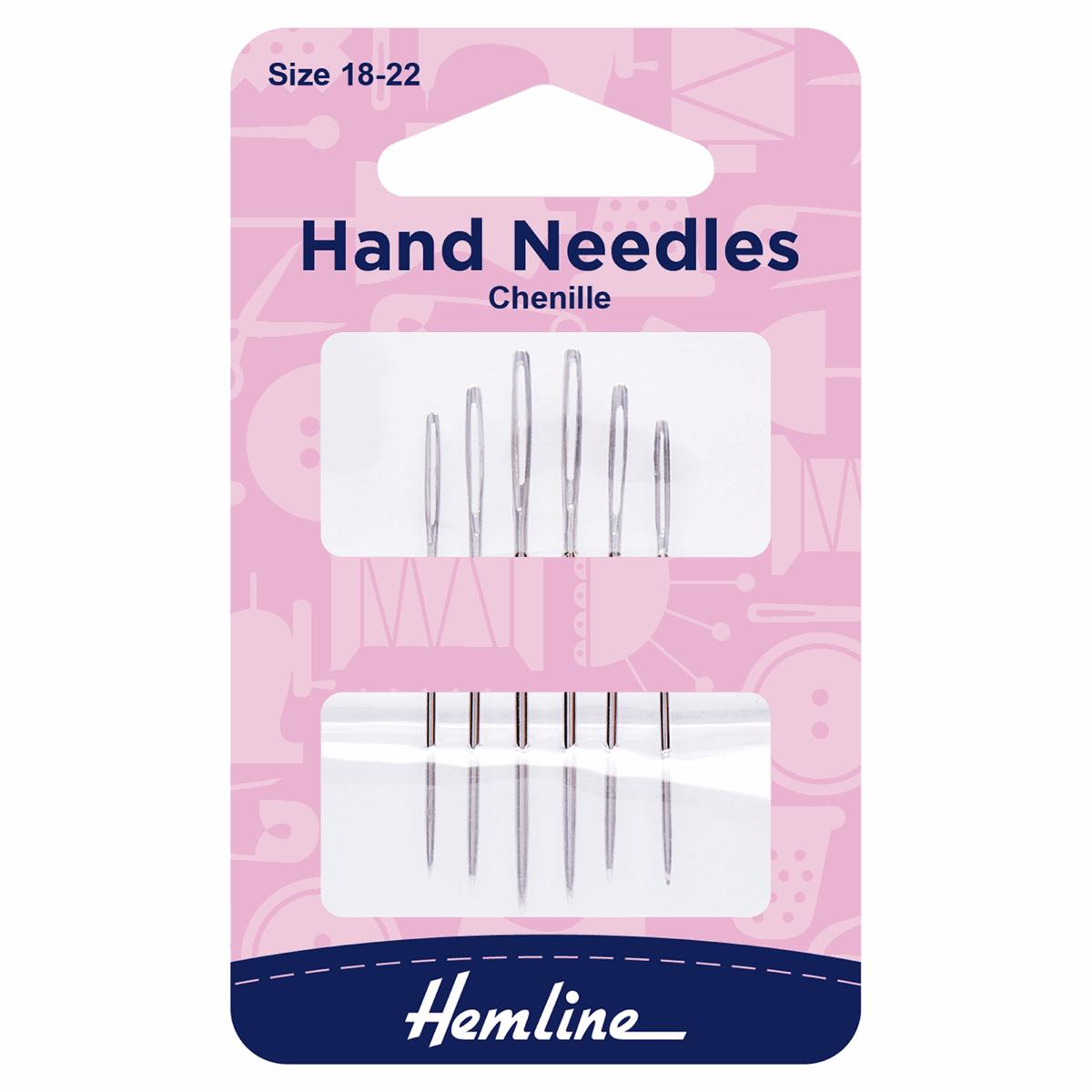 Hemline Chenille Hand Sewing Needles Size 18-22