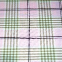 Tartan Plaid Check Polyviscose Fabric 150cm Wide, 190 gsm All Ranges 84C Beige On Pink