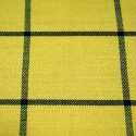 Tartan Plaid Check Polyviscose Fabric 150cm Wide, 190 gsm All Ranges 89 Black Line On Yellow