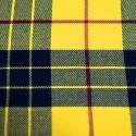 Tartan Plaid Check Polyviscose Fabric 150cm Wide, 190 gsm All Ranges 90 Black & Red On Yellow