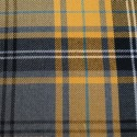 Tartan Plaid Check Polyviscose Fabric 150cm Wide, 190 gsm All Ranges 91 Yellow & Gren