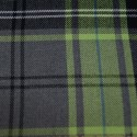 Tartan Plaid Check Polyviscose Fabric 150cm Wide, 190 gsm All Ranges 92 Green & Grey