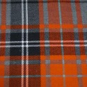 Tartan Plaid Check Polyviscose Fabric 150cm Wide, 190 gsm All Ranges 93 Orange & Grey